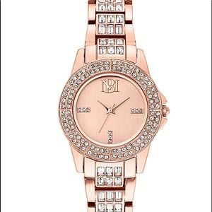 Badgley Mischka Swarovski Crystal Ladies Watch